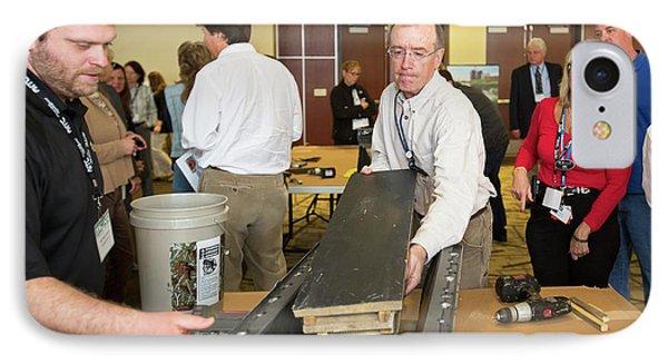 Volunteers Making Bat Houses IPhone 7 Case