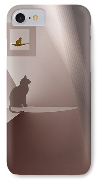 IPhone Case featuring the digital art Waiting For Aimee. by Andrew Penman