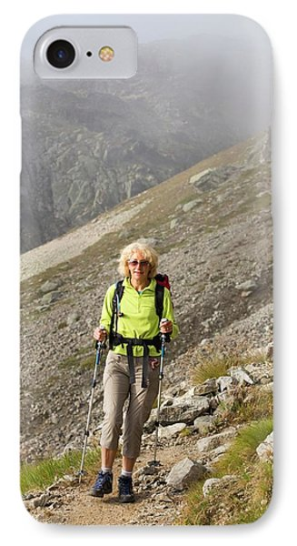 Walkers Doing The Tour Du Mont Blanc IPhone Case