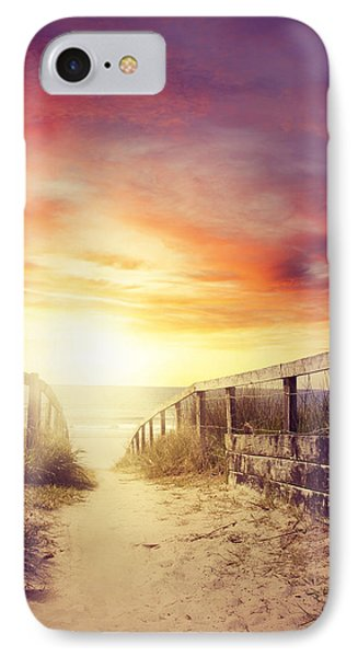 Walkway Phone Case by Les Cunliffe