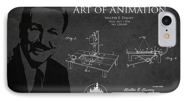 Walt Disney Patent From 1936 Phone Case by Aged Pixel