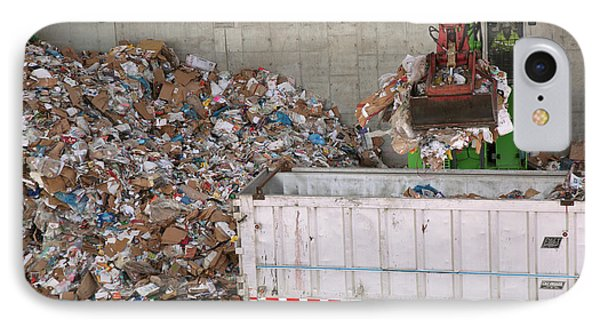 Waste Arriving At A Recycling Centre IPhone Case by Peter Menzel