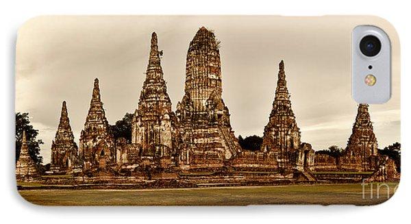 Wat Chaiwatthanaram Ayutthaya  Thailand Phone Case by Fototrav Print