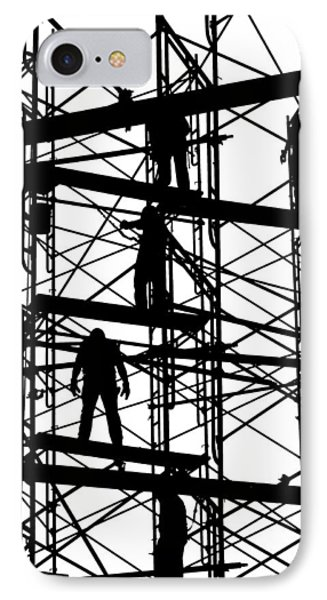 Water Tower Silhouette  Phone Case by Allen Beatty