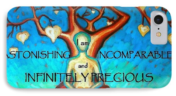 IPhone Case featuring the painting We Are Infinitely Precious by Janet McDonald