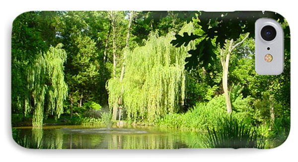 Weeping Willow Pond IPhone Case by Lyric Lucas