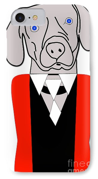 Weimaraner Painting IPhone Case by Marvin Blaine