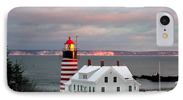 West Quoddy Head Lighthouse Phone Case by Alana Ranney