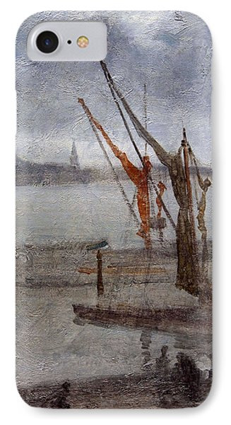 Whistler's Grey And Silver -- Chelsea Wharf IPhone Case