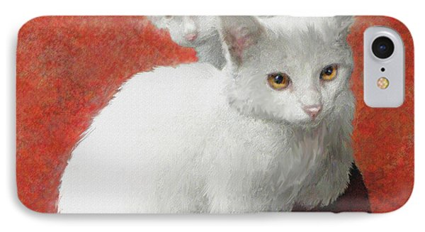 White Kittens IPhone Case