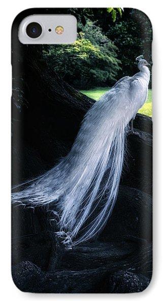 White Peacock IPhone Case by Joana Kruse