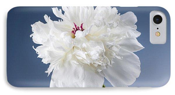 White Peony Flower IPhone Case