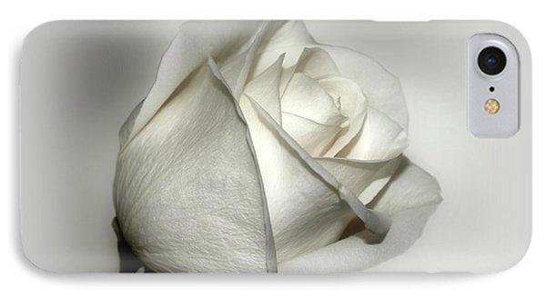 White Rose Phone Case by Sandy Keeton