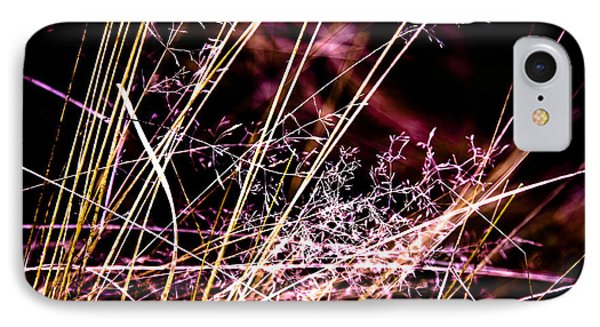 Wild Grasses Abstract Phone Case by Natalie Kinnear