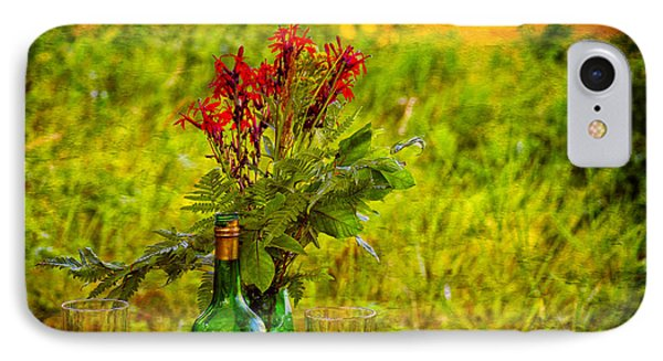 Wine And Flowers Phone Case by Les Palenik