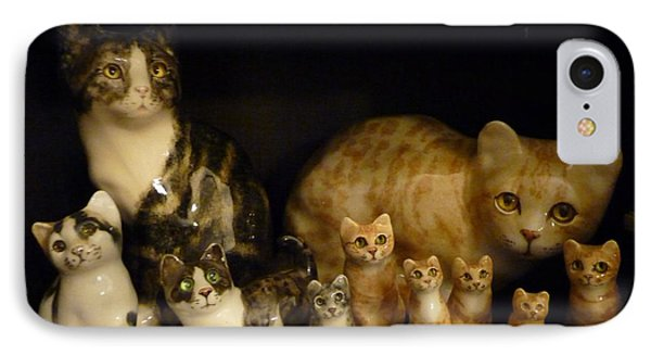 IPhone Case featuring the photograph Winstanley Cats by Jeanette Oberholtzer
