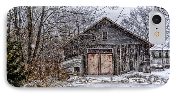 Winter At The Farm IPhone Case by Tricia Marchlik