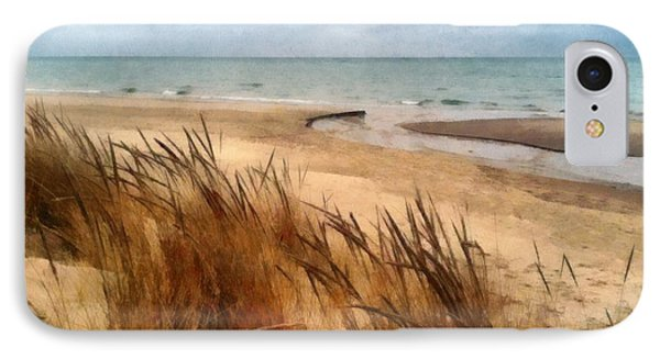 Winter Beach At Pier Cove Ll IPhone Case by Michelle Calkins