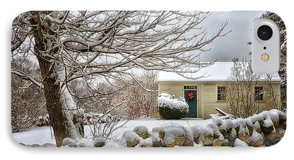 Winter Cabin IPhone Case by Tricia Marchlik