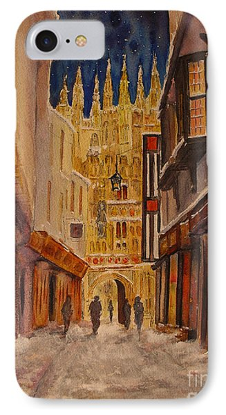 IPhone Case featuring the painting Winter In Canterbury by Beatrice Cloake