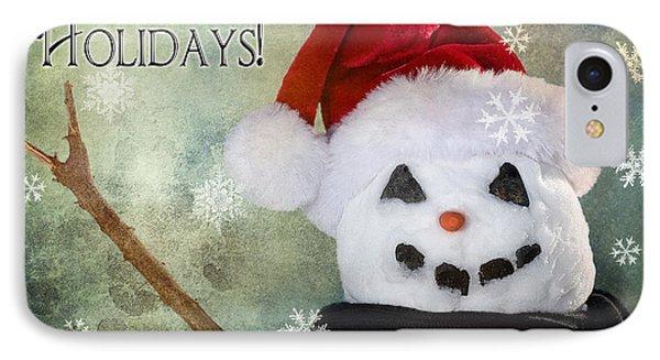 Winter Snowman Phone Case by Cindy Singleton