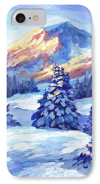 Winter Sunset  Phone Case by Peggy Wilson