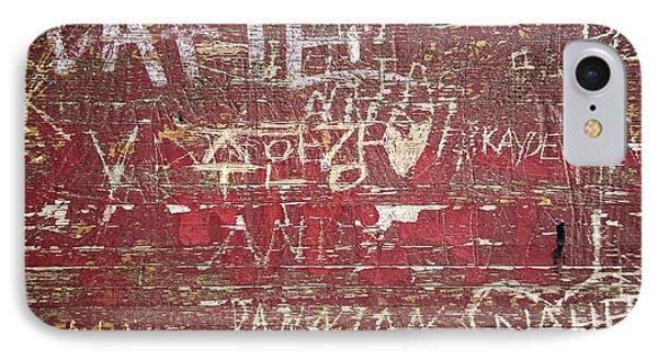 Wood Graffiti IPhone Case by Elena Elisseeva