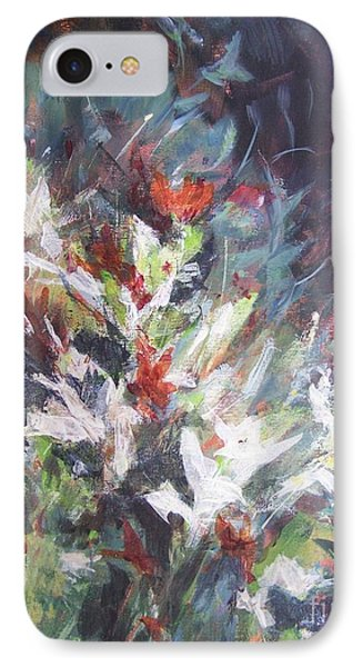 IPhone Case featuring the painting Woodland Bouquet by Mary Lynne Powers