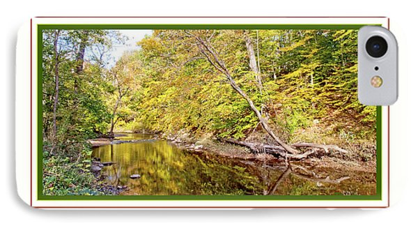 IPhone Case featuring the photograph Woodland Stream Early Autumn Montgomery County Pennsylvania by A Gurmankin