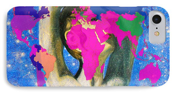 World Map And Aphrodite IPhone Case