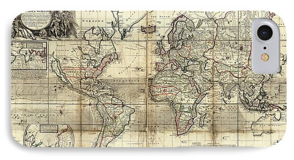 World Map IPhone Case by Library Of Congress, Geography And Map Division