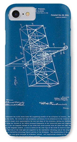 Wright Brothers Flying Machine Patent IPhone Case