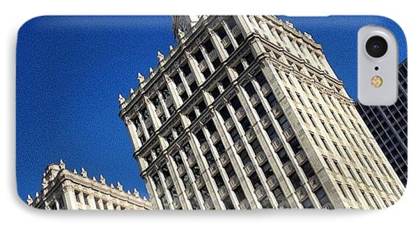 Wrigley Building- Chicago IPhone Case by Mike Maher