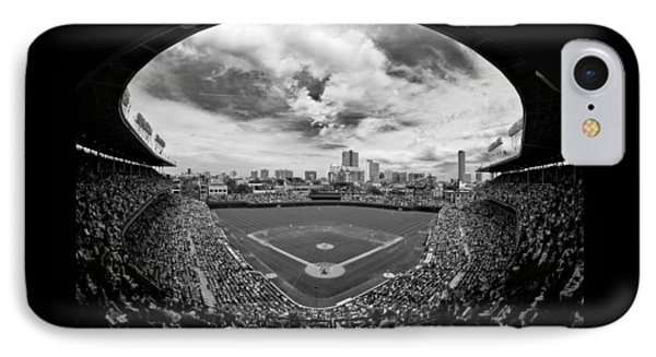 Wrigley Field  IPhone Case by Greg Wyatt