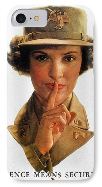 Wwii: Careless Talk Poster Phone Case by Granger