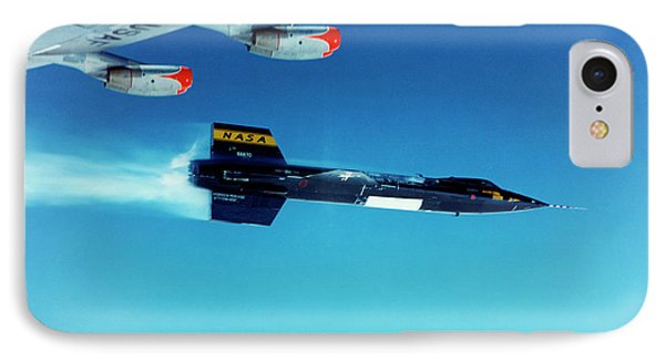X-15 Launch From A Boeing B-52 IPhone Case by Nasa