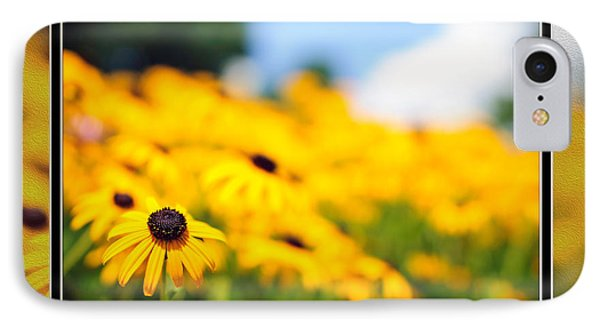 Yellow Daisy Delight IPhone Case by Charles Feagans