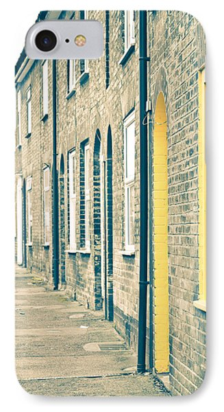 Yellow Door IPhone Case by Tom Gowanlock