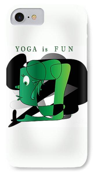 IPhone Case featuring the digital art Yoga by Iris Gelbart