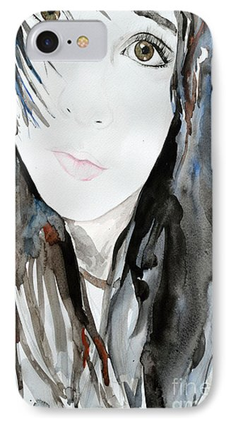 IPhone Case featuring the painting Young Girl by Ismeta Gruenwald