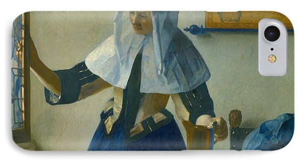 Young Woman With A Water Pitcher IPhone Case by Johannes Vermeer