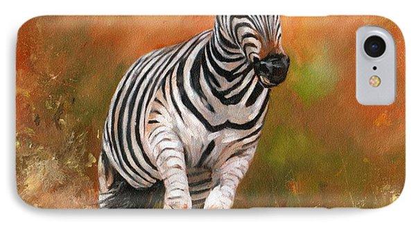 Zebra IPhone Case by David Stribbling