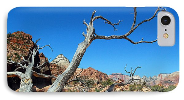 Zion Reaching Tree IPhone Case by Debra Thompson