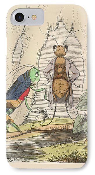 Grasshopper iPhone 7 Case - Aesop Fables by British Library