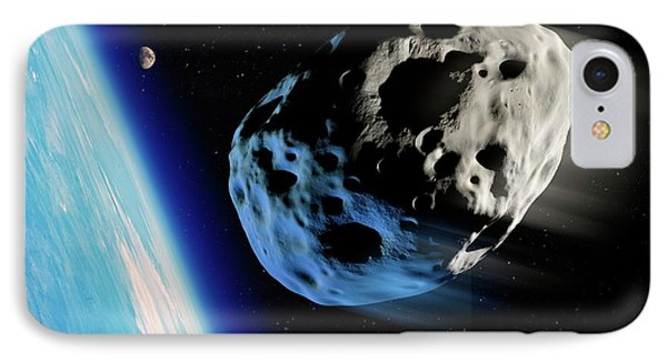 Asteroid Approaching Earth IPhone Case by Detlev Van Ravenswaay