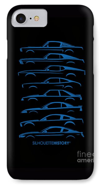 Ford Mustang Silhouettehistory IPhone Case by Gabor Vida