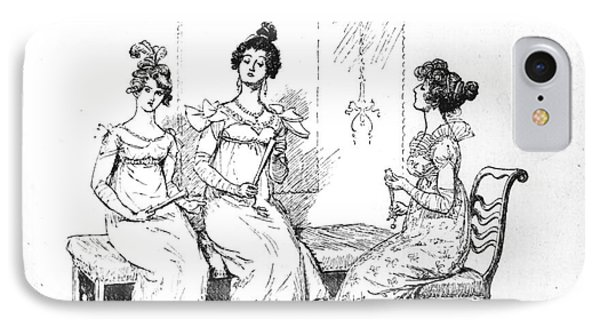 Scene From Pride And Prejudice By Jane Austen IPhone Case by Hugh Thomson