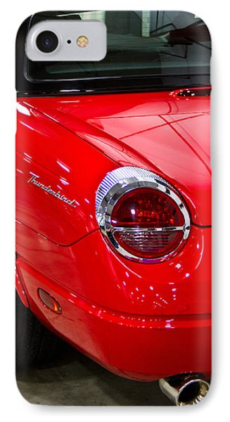 2002 Red Ford Thunderbird-rear Left IPhone Case by Eti Reid