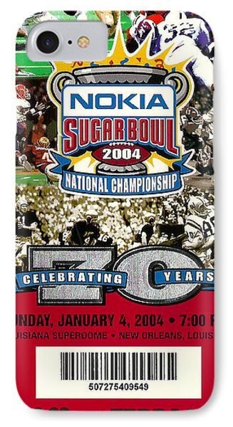 2004 National Championship Ticket - Lsu Vs Oklahoma Phone Case by David Patterson