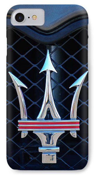 2005 Maserati Gt Coupe Corsa Emblem IPhone Case by Jill Reger